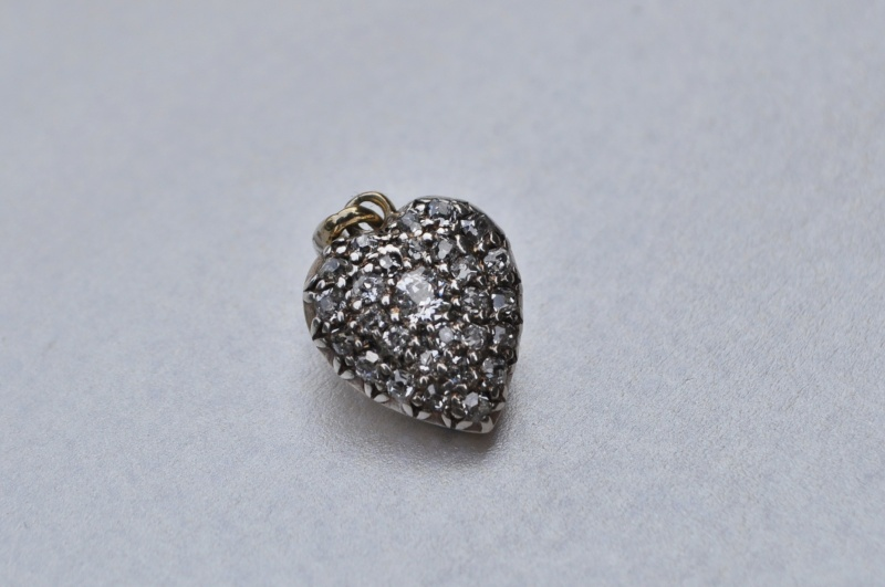 Yellow gold diamond heart pendant 9ct yellow gold diamond heart pendant aloadofball Gallery