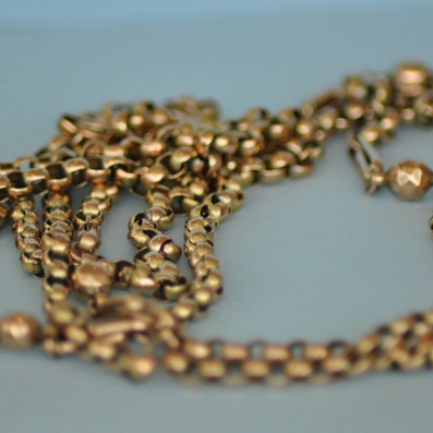 9 Carat Gold Belcher Guard Chain