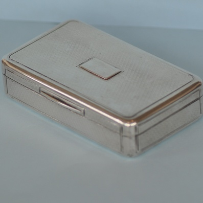 1816 Silver Rectangular Snuff Box