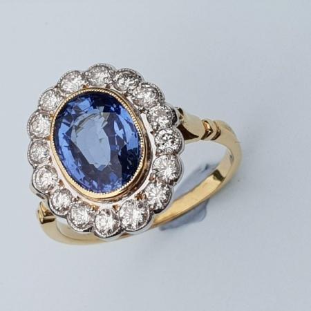 Sapphire Diamond Cluster
