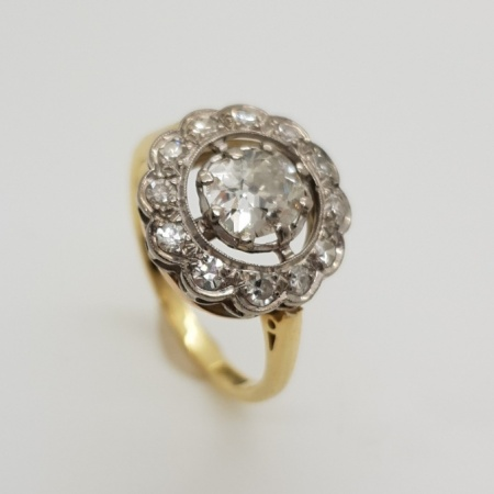Vintage 18ct Gold and Platinum Diamond
