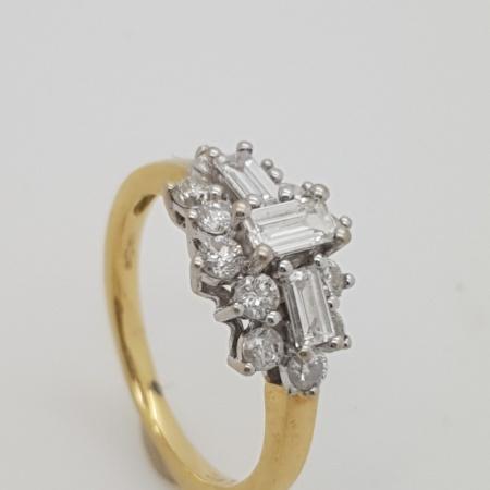 Baguette Diamond Cluster