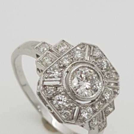 Art Deco Diamond 18ct White Gold