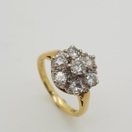 Gold/Platinum Diamond Cluster