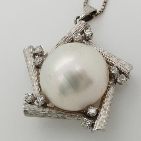 15ct Mabe Pearl Diamond