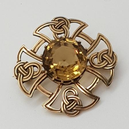 Gold Celtic Citrine