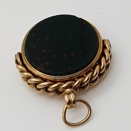 Cornelian and Agate 9ct Gold Fob.