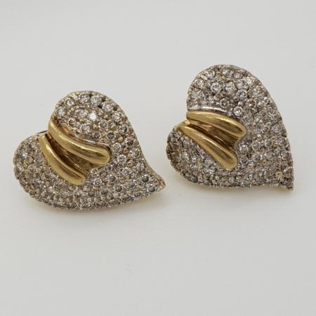 Diamond Heart Shaped Studs