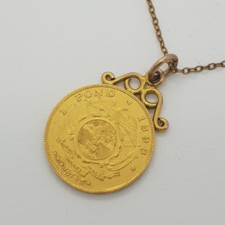 1898 1 Pond South African Necklace