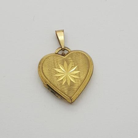 9ct Engraved Gold Locket