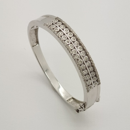 WG Diamond Baby Bangle
