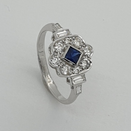 Rubover Art Deco style Sapphire Diamond