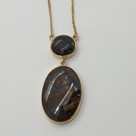YG Double Black Opal