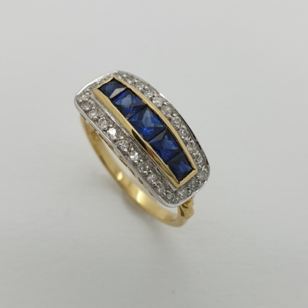 50's Sapphire and Diamond Dress Ring