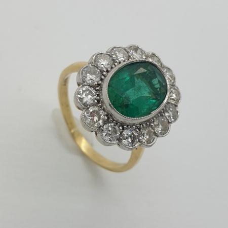 Emerald  Diamond Cluster
