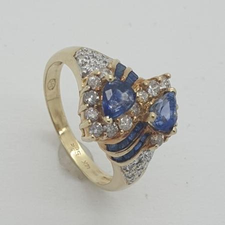 14ct Tanzanite Diamond Ring