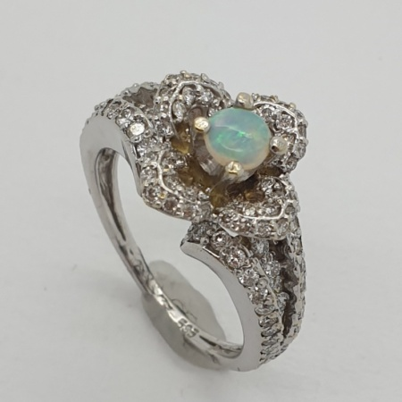 Opal Diamond Dress Ring