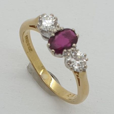 18ct Ruby and Diamond Trilogy