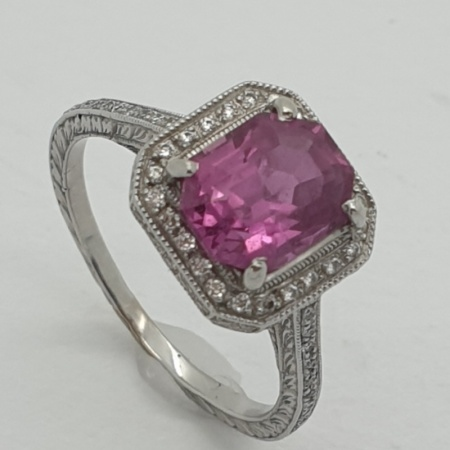 Pink Sapphire Cluster