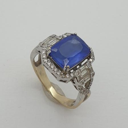 18ct WG Tanzanite Diamond Ring