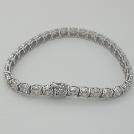 18ct WG Diamond Tennis Bracelet