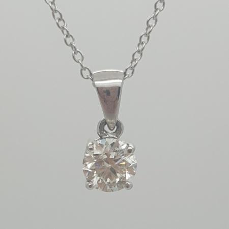 18ct Solitaire Diamond Pendant