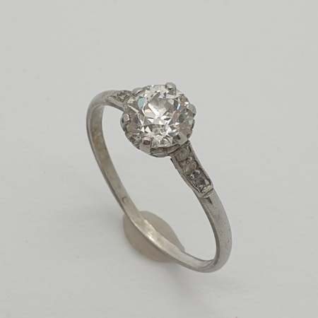 1ct Diamond Solitaire Ring in White Gold