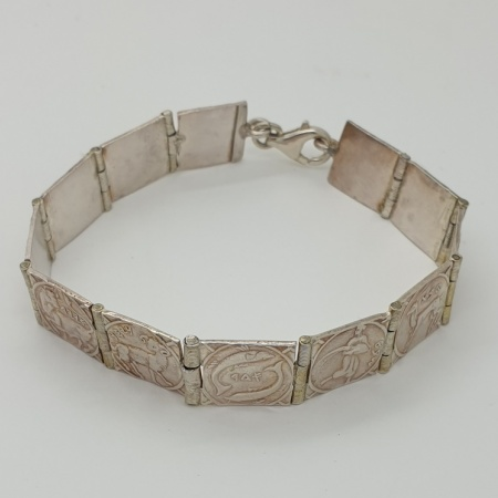 Sterling Silver Zodiac Bracelet