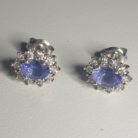 WG Tanzanite Diamond Earrings