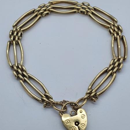 9ct Gold Gate Bracelet