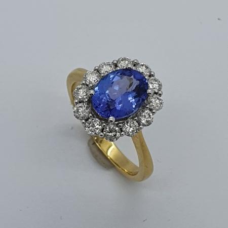 Tanzanite Diamond Dress Ring