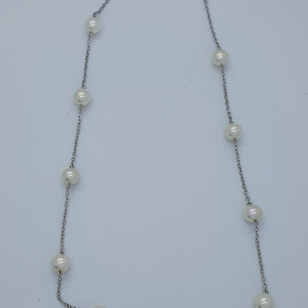 Mikimoto WG and Akoya Cultured Pearl Necklace