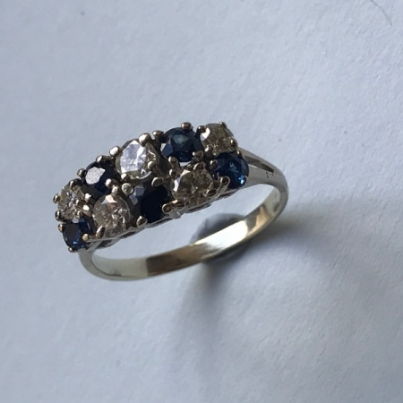 18ct Sapphire Diamond Cluster