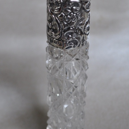 Silver Topped Scent Bottle