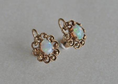 Yellow Gold and Opal Prong Set
