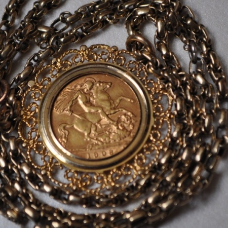 1908 Half Sovereign Pendant