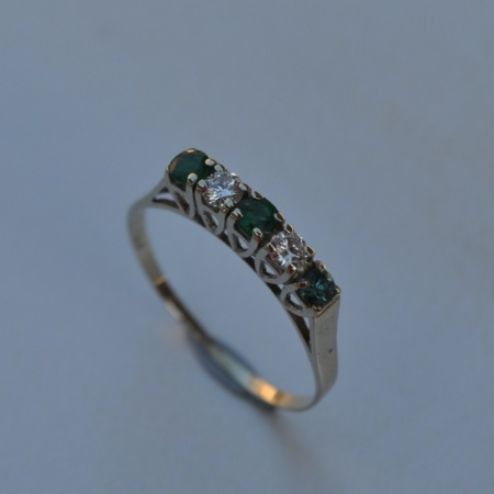 15ct Emerald and Diamond Ring