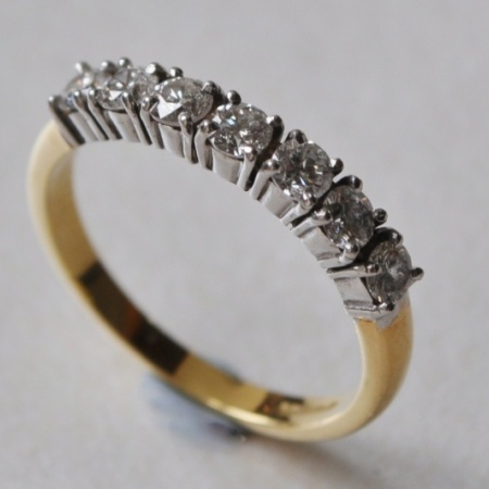 Yellow/White Gold Eternity Ring
