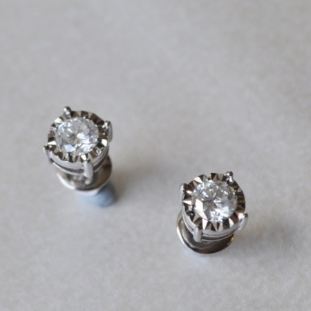 Diamond Solitare Earrings