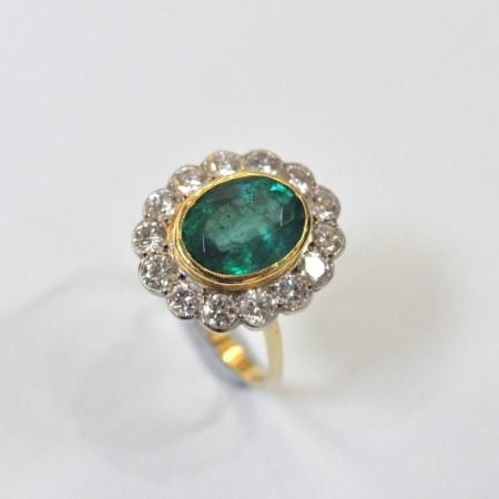 18ct Emerald and Diamond