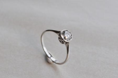 18ct White Gold Diamond Solitare