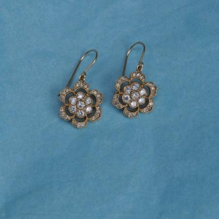 Diamond Flower Drops