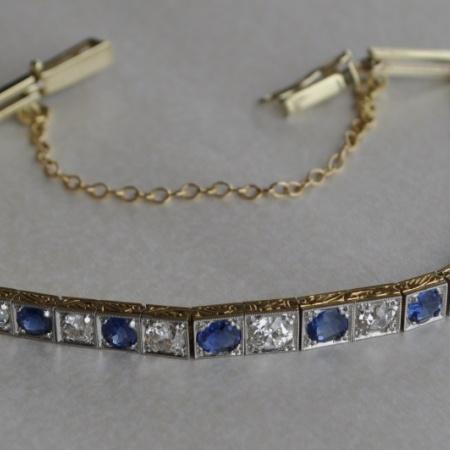 Sapphire/Diamond Bracelet