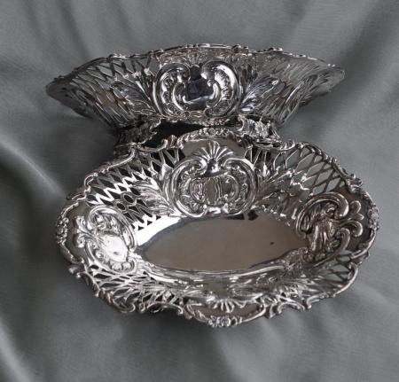 Solid Silver Bon Bon Dish Set