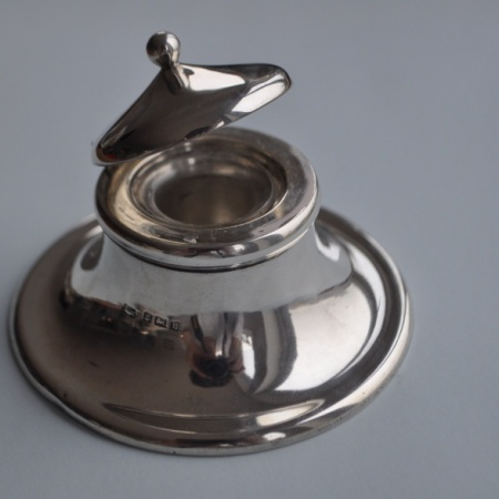 Silver Inkwell