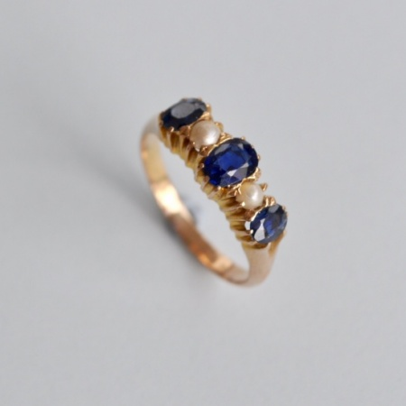 1920's Sapphire and Pearl