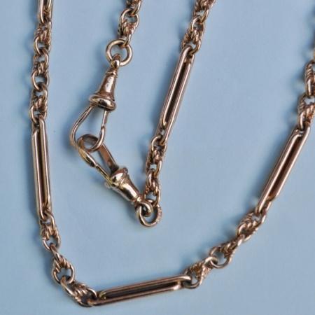 Victorian 9ct Rose Gold Albert Chain
