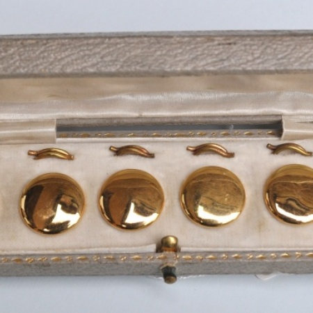 9ct Gold button Covers