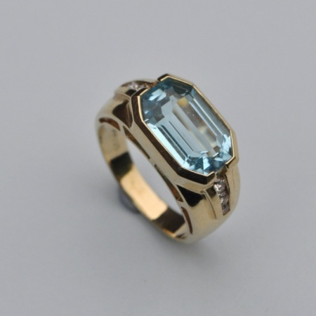 Aquamarine and Diamond