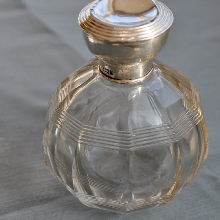 Silver topped Perfume Bottle